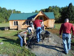 Work on the Cabin Classroom Walkway