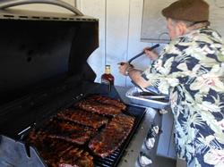 Dane cooking ribs for the workers!
